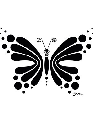 Hypnotic Butterfly – Vector Design